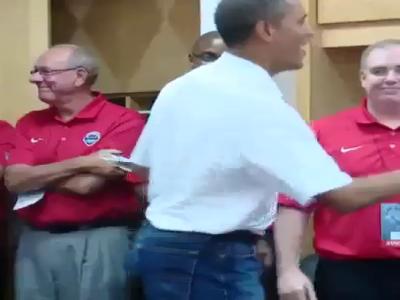 President Switches Up Handshake