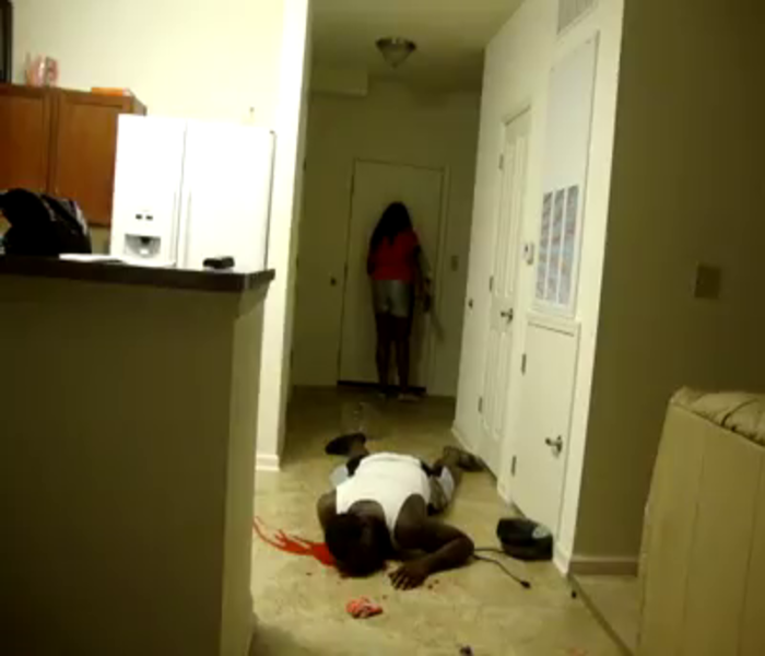 April Fools- Woman Pranks Her Mother By Pretending To Kill Her Boyfriend