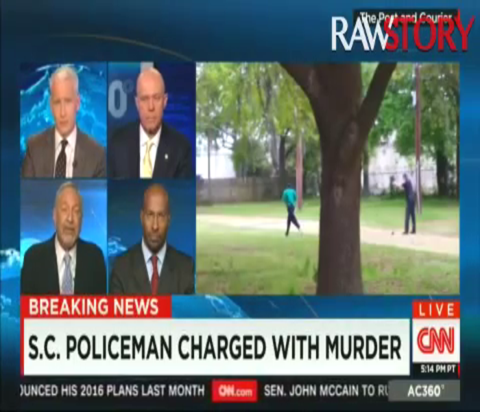 """CNN Guest Destroys South Carolina Cop Defender """"The Only Reason You've Got To Fess Up At This Point Is Because There's A Video"""""""