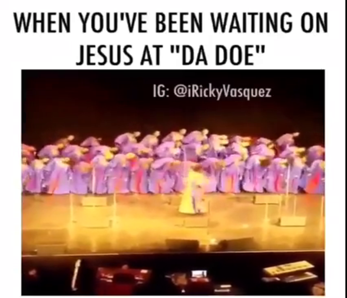 When You Waiting On Jesus At The Door