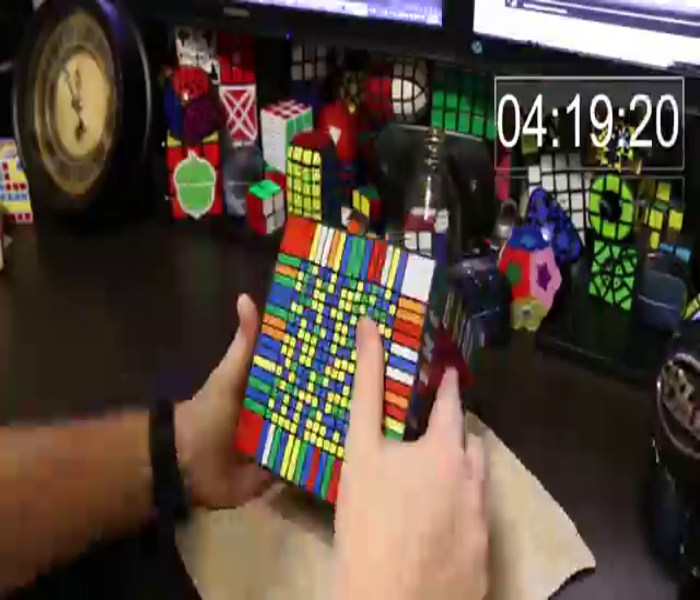 Video of the World's Largest Rubik's Cube-Style Puzzle Being Solved