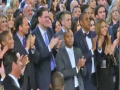 Beyonce Jay Z and Pharrell React To Kanye Storming Grammy Stage